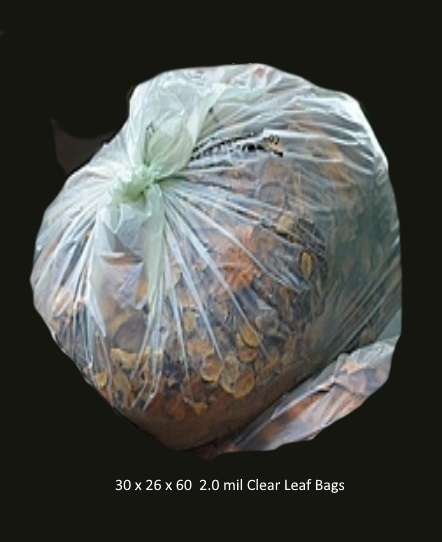 Large Clear Leaf Bags